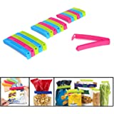 FireTech Food Snack Sealing Plastic Bag Clips - 18 PCs (Multicolor)