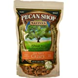 Native Pecan Halves, Family Recipe Crispy, Soaked and Dried with Sea Salt, 12 Oz. With Stand-up Resealable Bag