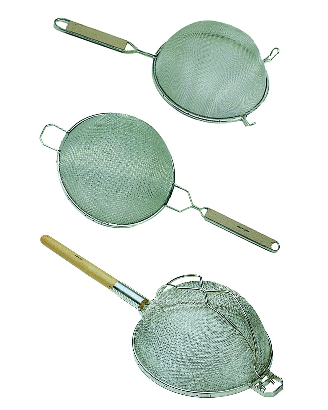 Update International (SDM-10/SS) 10-1/4'' Medium Double Mesh S/S Strainer