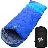 丸洗いのできる寝袋 ワイドサイズ 封筒型 最低使用温度 -5℃ コンパクト収納袋付き シュラフ 寝袋 オールシーズン