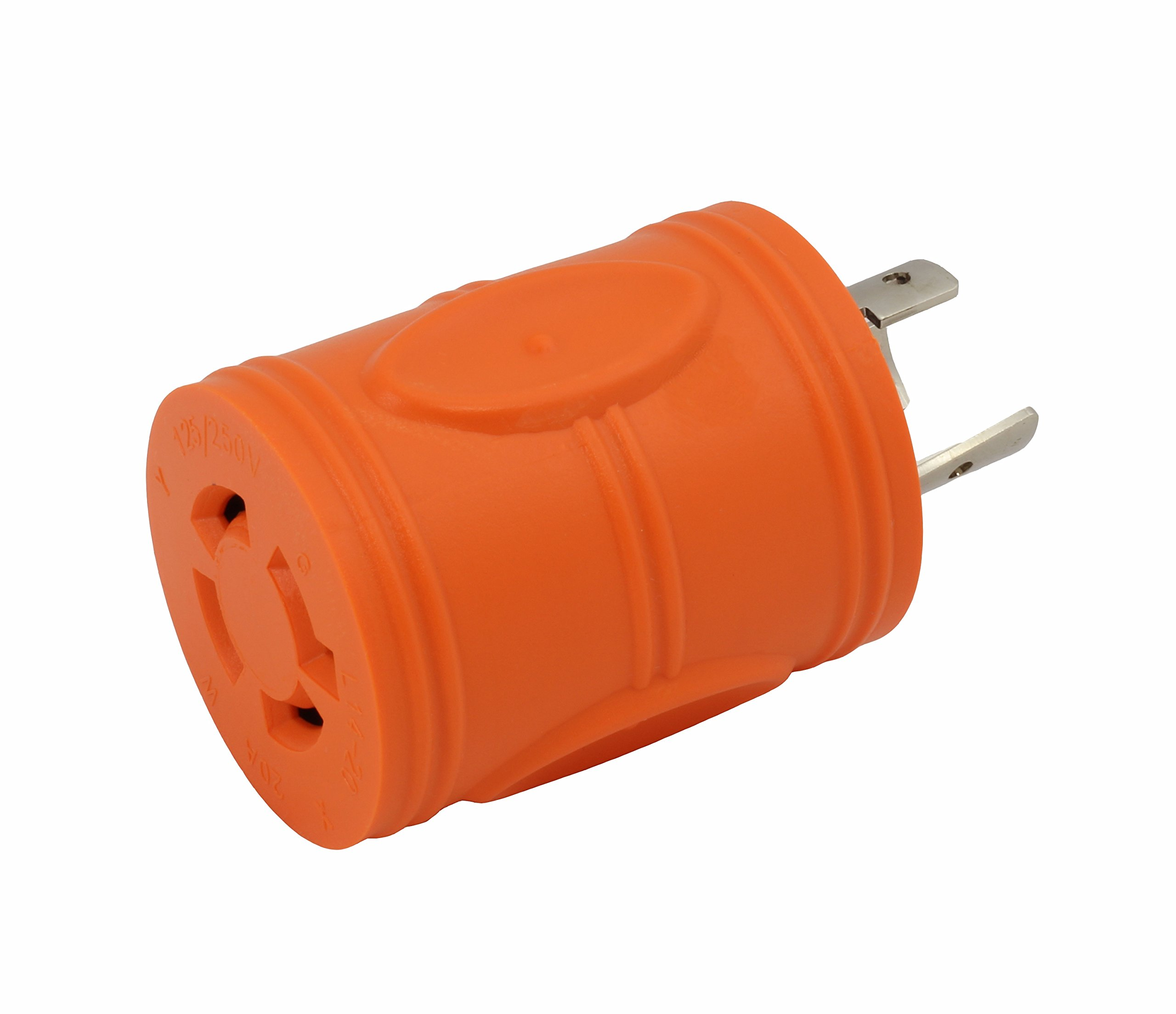 AC WORKS [ADL620L1420] Locking Adapter L6-20P 20Amp 250Volt Locking Plug to 4-Prong 20Amp L14-20R Adapter