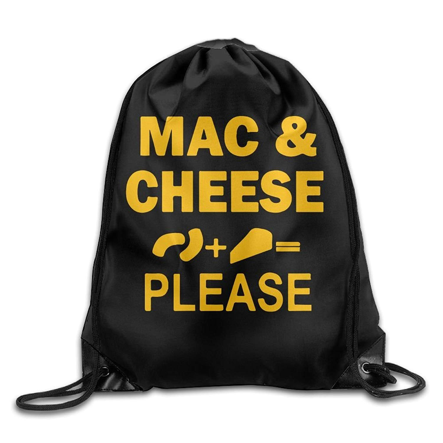 Mac And Cheese Please Drawstring Pack Beam Mouth School Travel Backpack Shoulder Bags For Men And Women