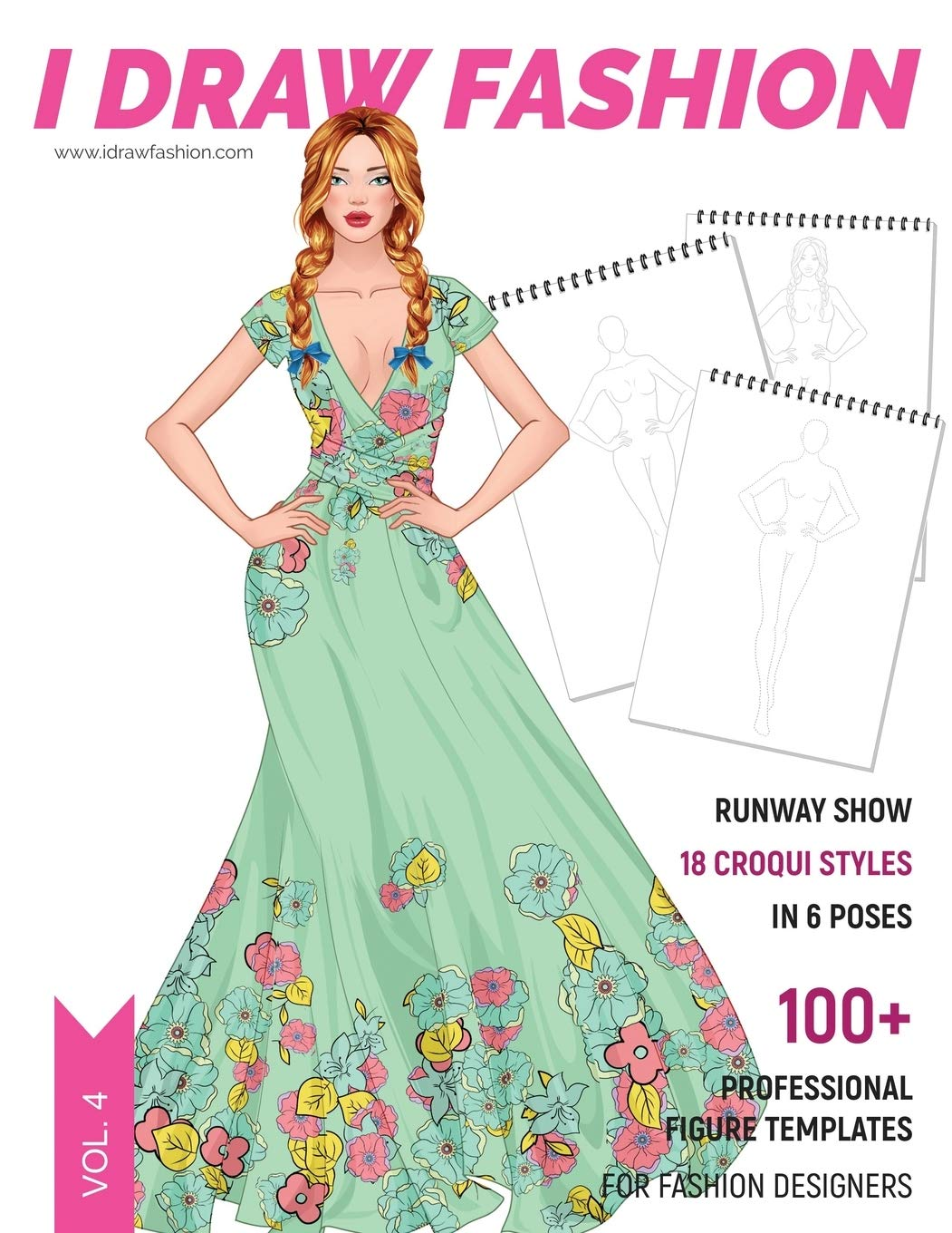Runway Show 100 Professional Figure Templates For Fashion Designers Fashion Sketchpad With 18 Croqui Styles In 6 Poses Fashion I Draw 9781688678200 Amazon Com Books