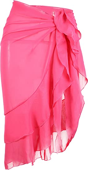 Ruffle Wrap Hestya Women/'s Swim Chiffon Beach Sarong Wrap Bikini Skirt Cover-up