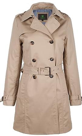 new styles 77241 2b8d7 F03 Damen Trenchcoat Kurzmantel Camille mit Gürtel beige ...