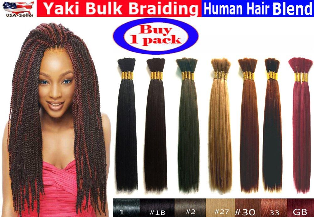 "Yaki Bulk Braiding Hair, Human Hair Blend, Braids Hair Extensions for Twists, Hot Selling, Length 18"""
