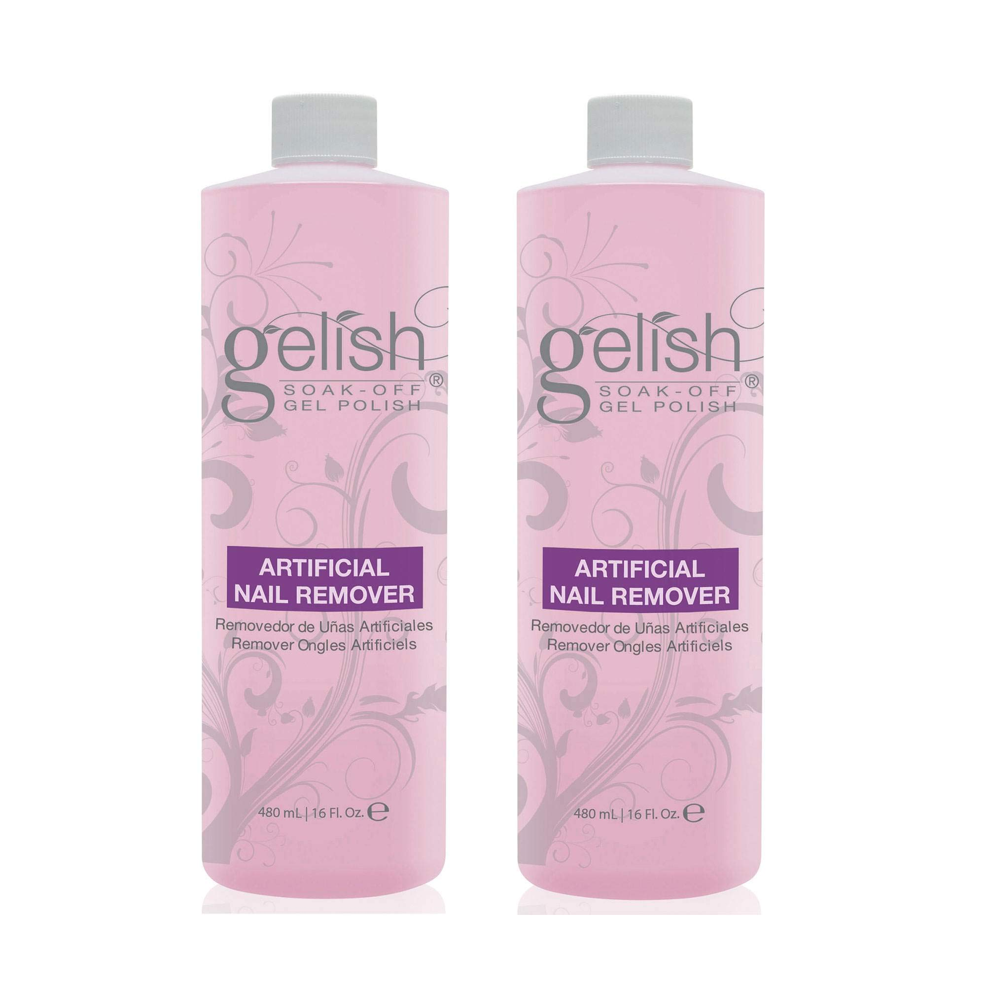 NEW Gelish Artificial Refill Soak Off Gel Nail Polish Remover 480mL (2 Pack) by Gelish