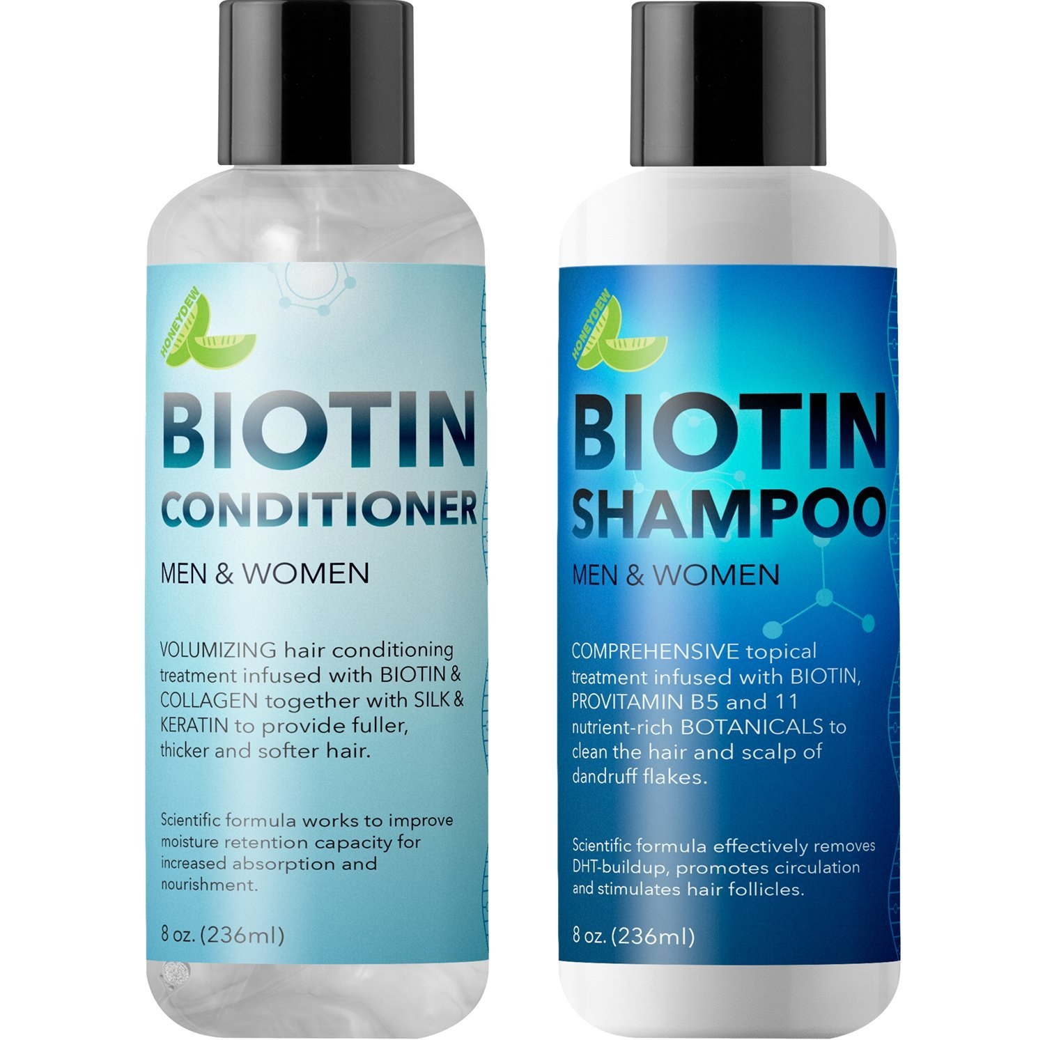 Biotin Shampoo and Conditioner Hair Loss Treatment for Thinning Hair - Hair Follicle Stimulator for Fuller Thicker Hair Growth - Revive Damaged Hair with Natural Jojoba Oil Argan Oil Sea Buckthorn Maple Holistics MH-Biotin-Set-1