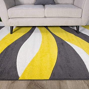 amazon com ochre mustard yellow gold color curvy wave pattern rh amazon com