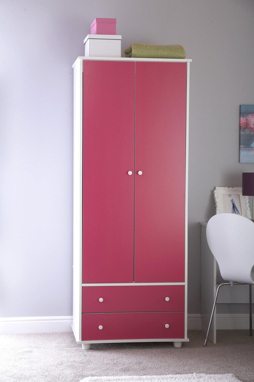 Home Source Filles 0, 9m Rose Simple Lit Lit Blanc Meubles de Chambre d'enfant GX-MIA30BDPW Pink Bed (2)