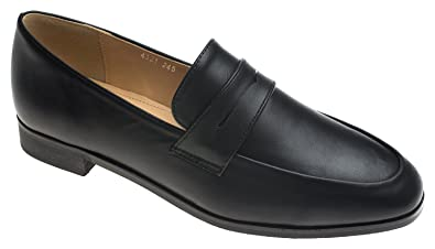 013098a645a AnnaKastle Womens Classic Penny Loafer Flat Slip-On Shoes Black