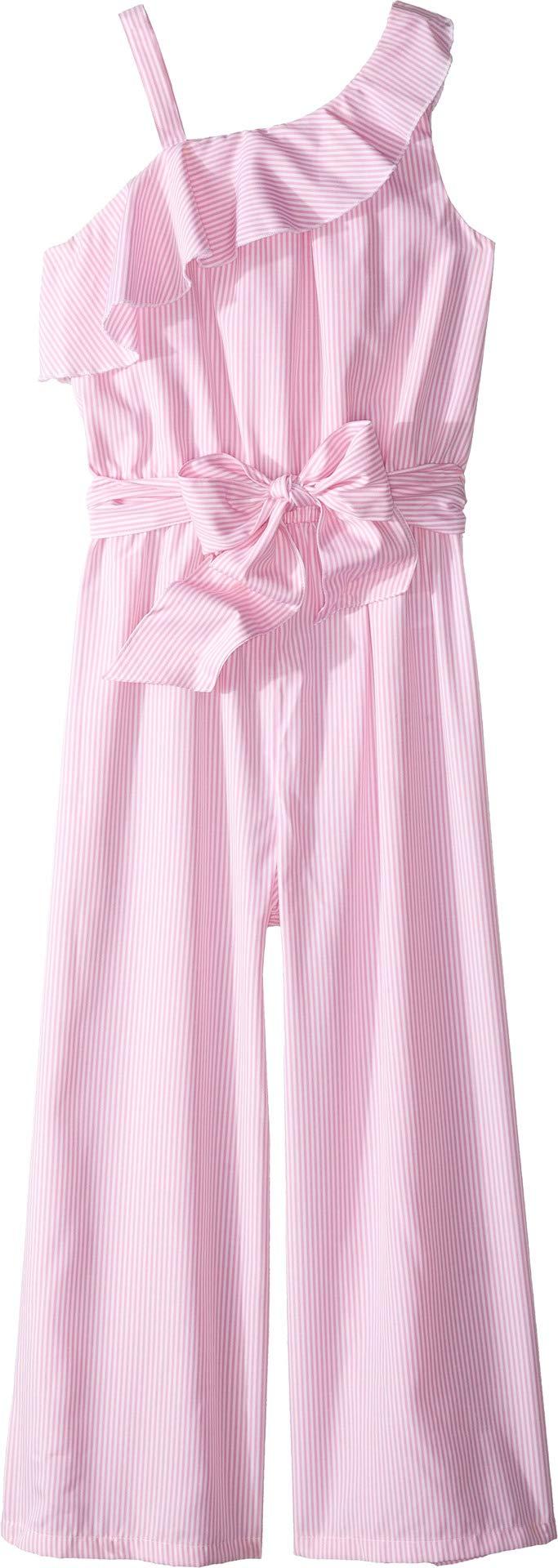 HABITUAL girl Girl's Thalia Jumpsuit with Tie (Big Kids) Light Pink 7-8