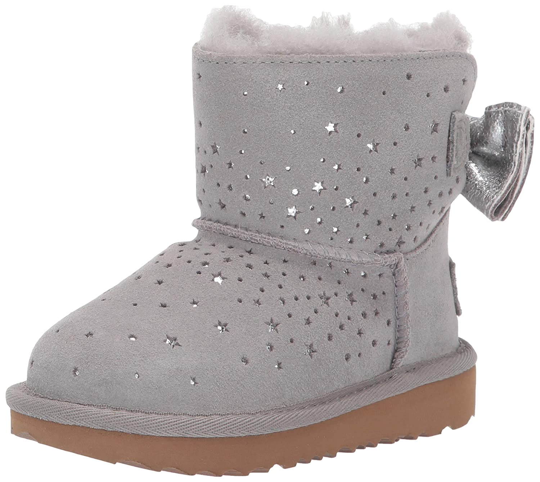 1a67f620aac UGG Kids Girls Stargirl Classic Mini II Bow Boot Grey Toddler uk5 ...