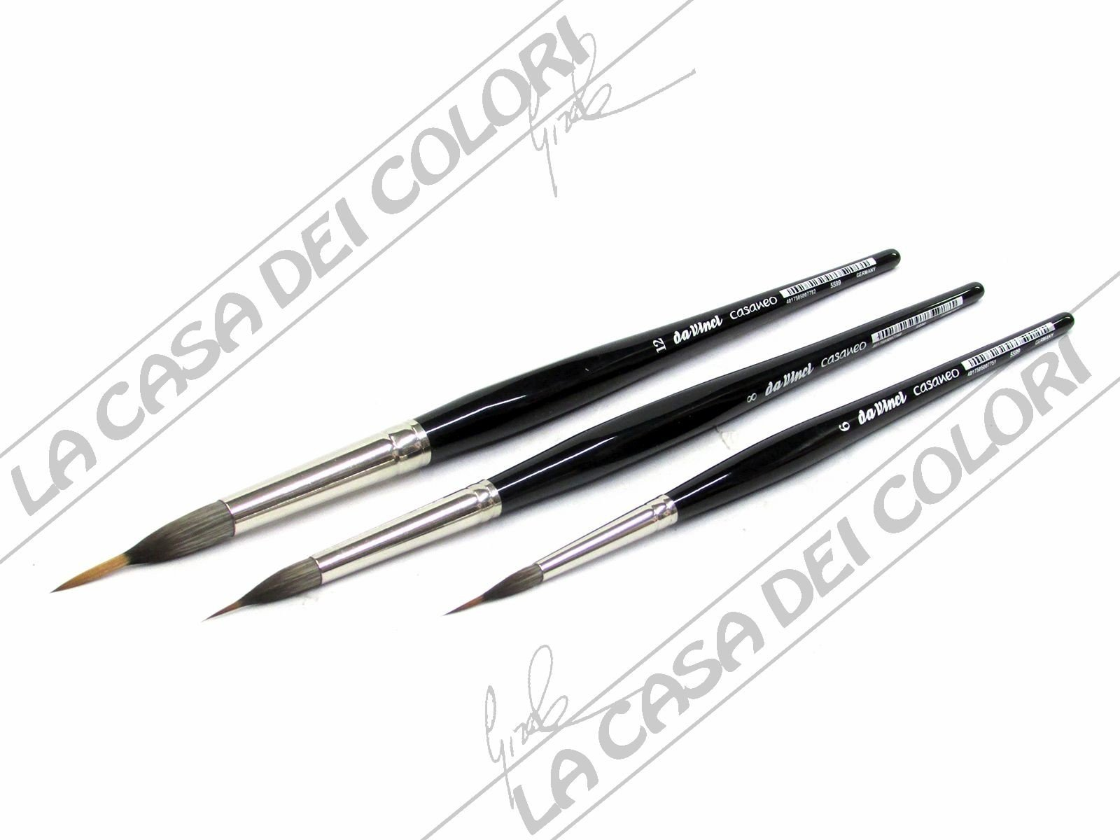 da Vinci Watercolor 5599-8 Casaneo Watercolor Brush Black