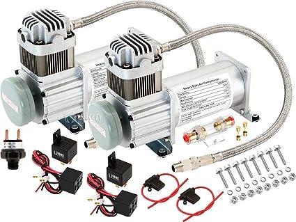 Vixen Horns 150 PSI Heavy Duty Train Horn/Suspension/Air Ride/Bag Air  Compressor/Pump with 1/4