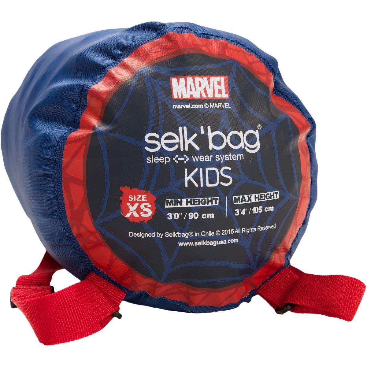 SELKBAG Saco de dormir Modelo KIDS SPIDER MAN,Talla XS: Amazon.es: Deportes y aire libre