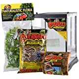 """Zoo Med Creatures Creature Habitat Kit, 8.5 by 11"""", for Pet Spiders Insects & Other Invertebrates"""