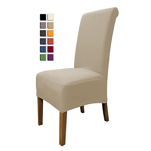 SCHEFFLER HOME Emma Chair Covers For Dining Room 2 Pcs Stretch Chaircover Bi