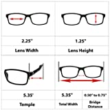 Computer Reading Glasses 1.25 Black 2 Pack Protect