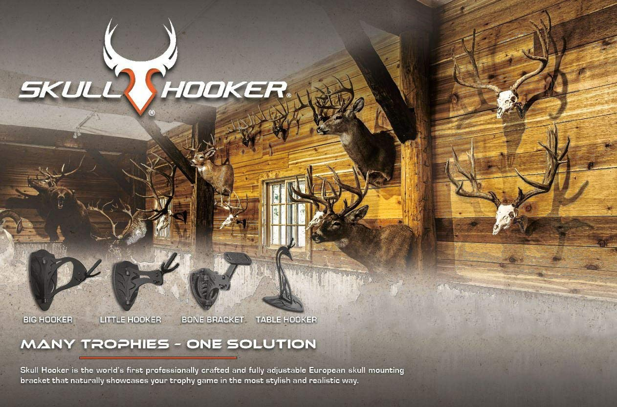 Skull Hooker Trophy Tree European Trophy Mount - Hang up to 5 Taxidermy Deer Antlers and other Skulls for Display - Graphite Black by Skull Hooker (Image #6)
