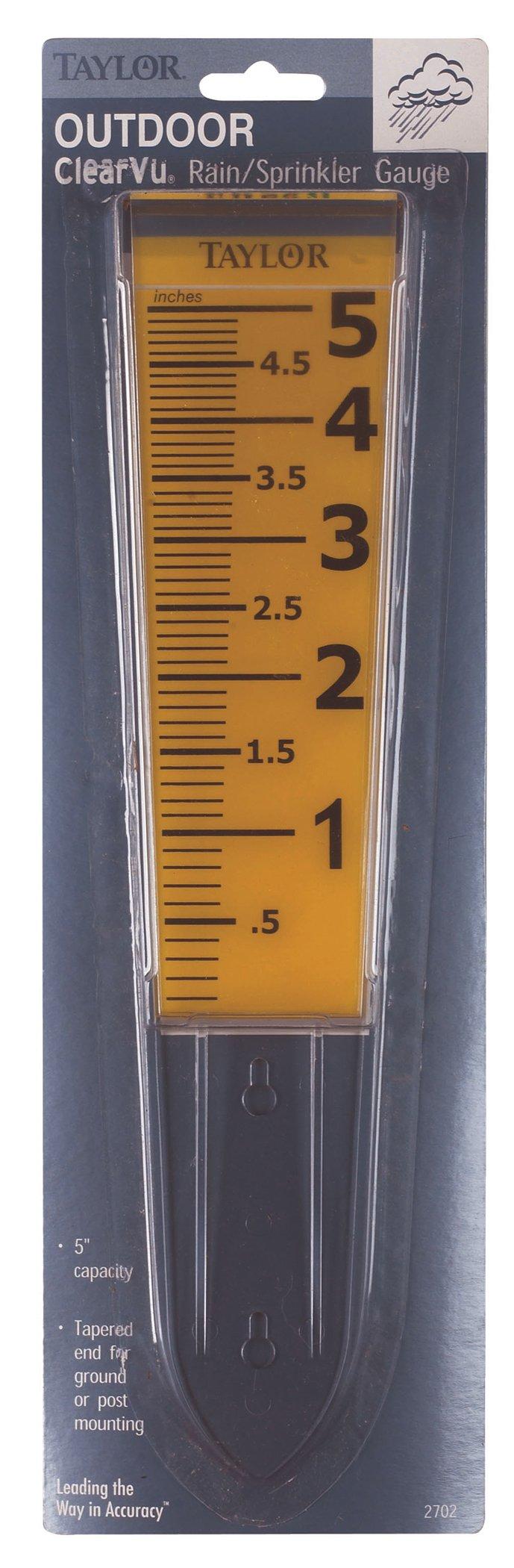 Chaney Instrument Clear VU Rain Gauge
