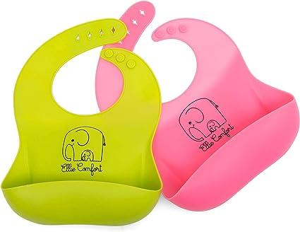 Baby Child Silicon Bib Waterproof Washable Food Grade BPA Free Tracked Postage