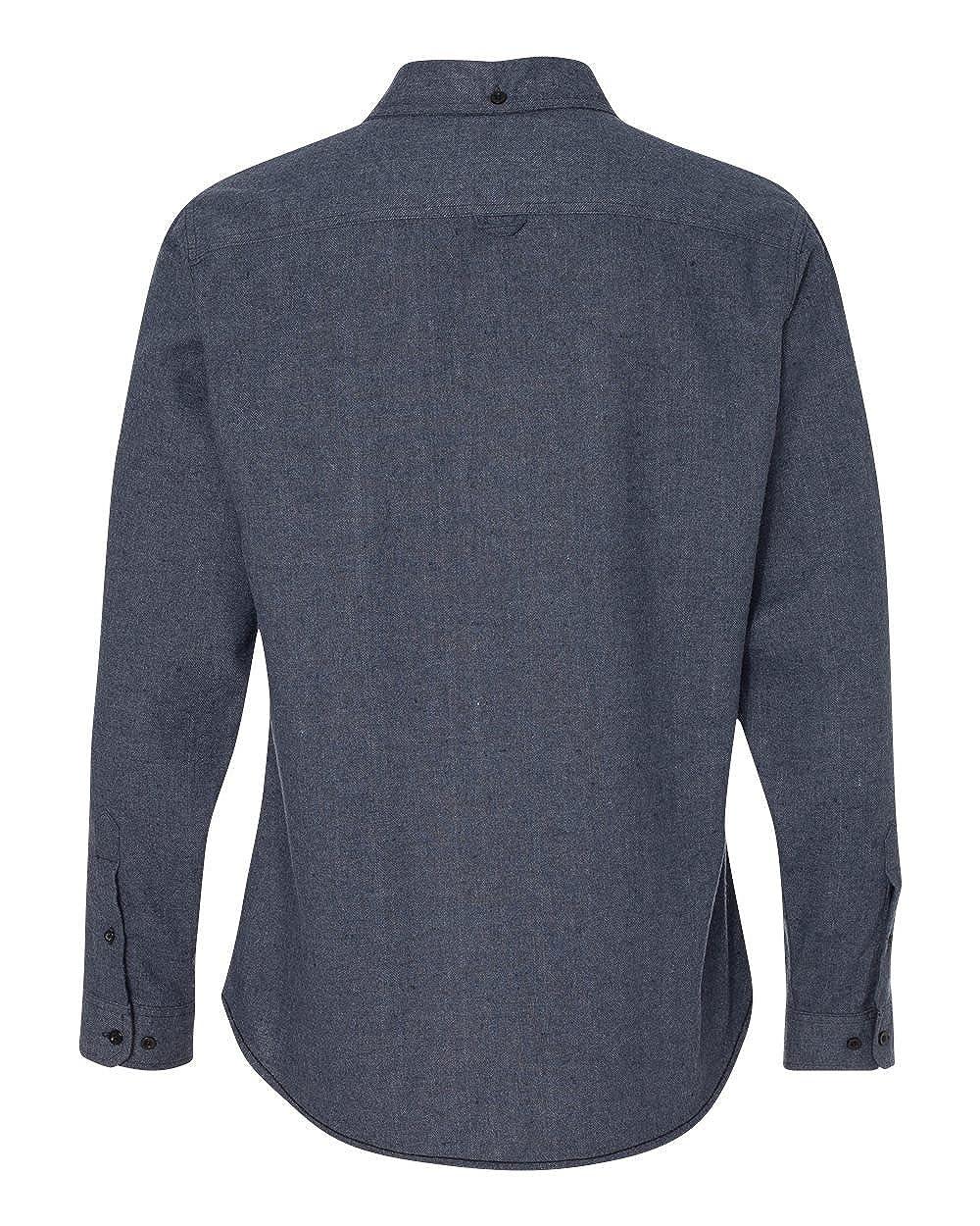 Burnside Mens 8200 Long Sleeve Solid Button-up Flannel Shirt