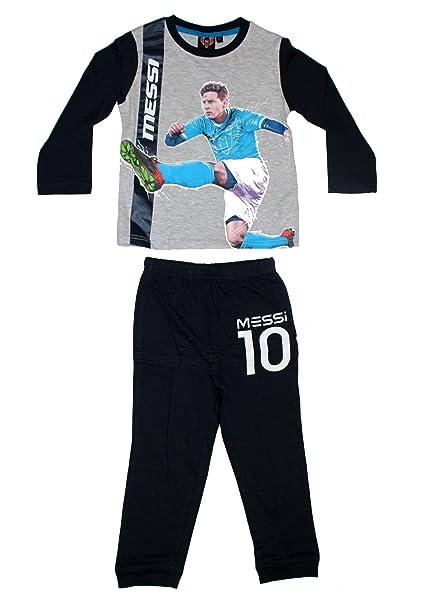 Lionel Messi Para Niños Pijama De Manga Larga (Gris, 4 Años)
