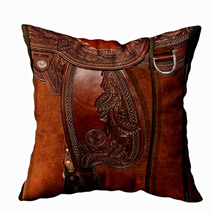 Shorping Zippered Pillow Covers Pillowcases 16X16 Inch Western Leather Look  Saddle Tackle Decorative Throw Pillow Cover,Pillow Cases Cushion Cover for  ...