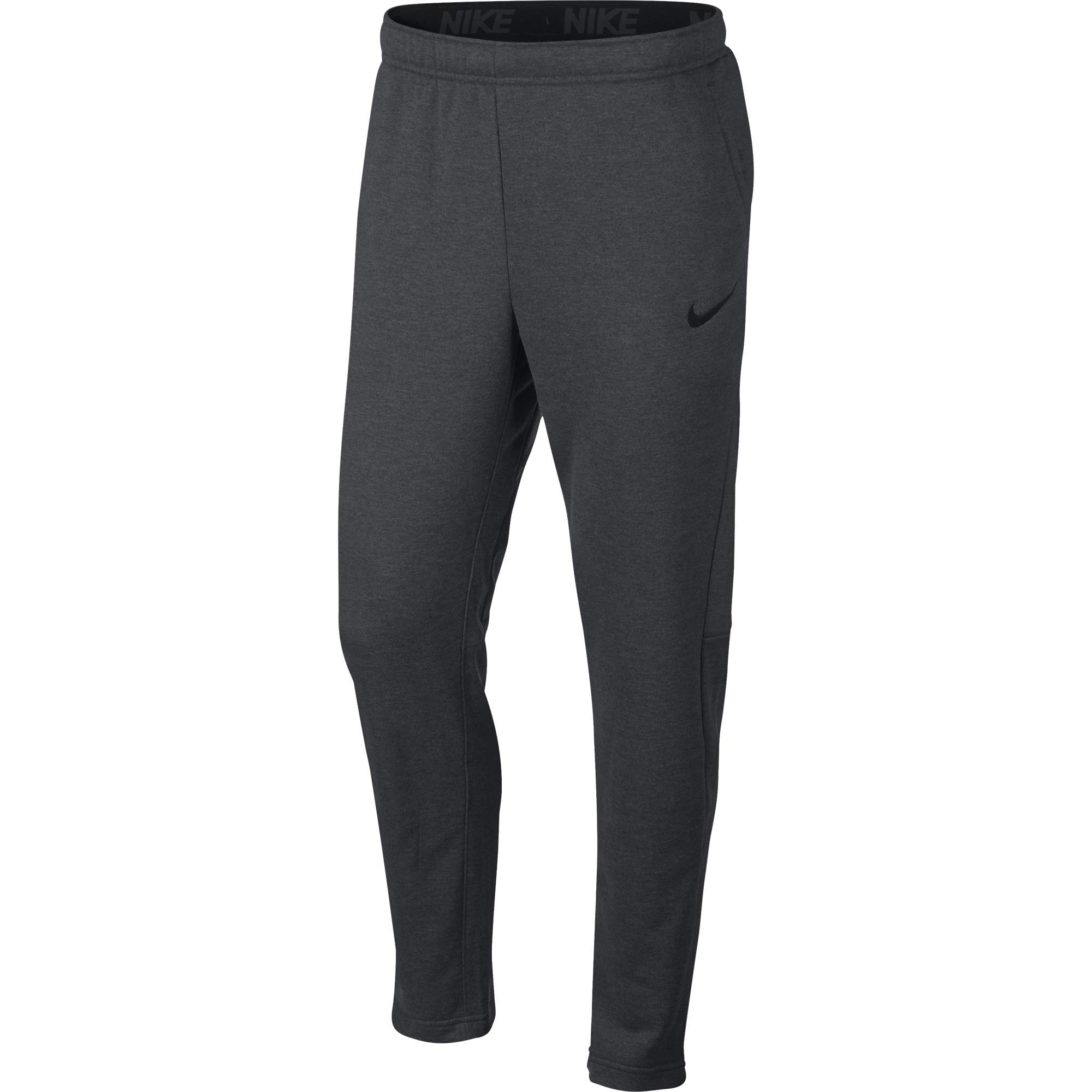 Nike Men's Dry Fleece Training Pants, Charcoal Heather/Black, XXX-Large by Nike