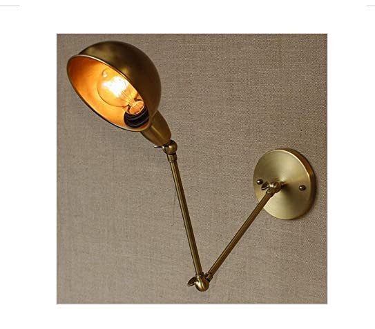 HYY@ swing arm sconce lamps Brass Wall Lamp for workroom Bathroom ...