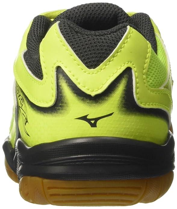 Mizuno V1GD1703, Chaussures de Sport Mixte Enfant - Multicolore - Multicolore (SafetyYellowAtomicBlue/DarkShadow 46), 34.5 EU EU