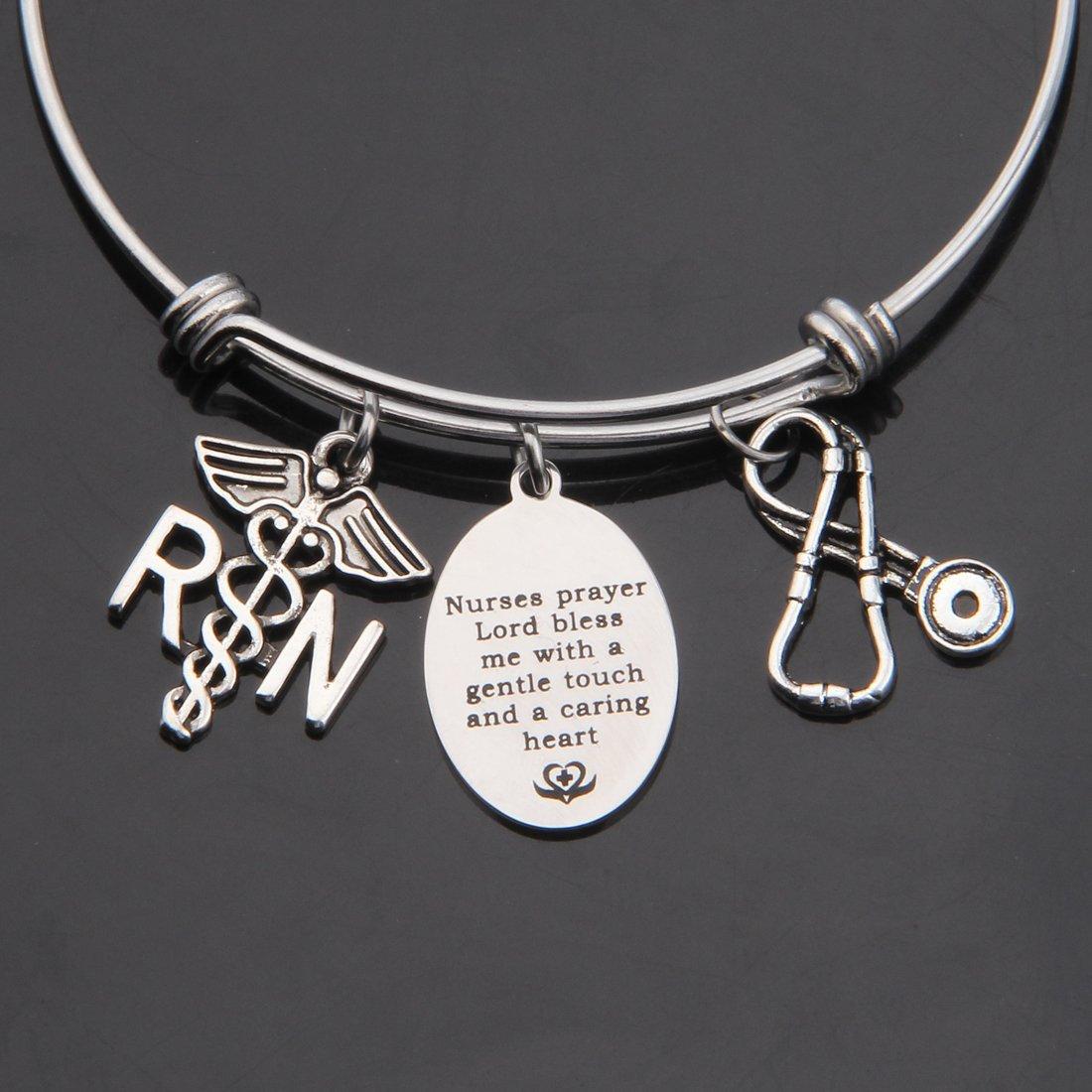 Amazon.com: kuiyai oración collar pulsera de enfermera con ...