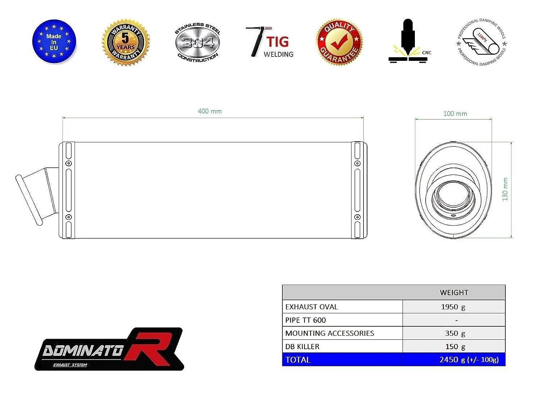 GP I Dominator Exhaust Silencieux /échappement TRIUMPH TT 600 DB KILLER
