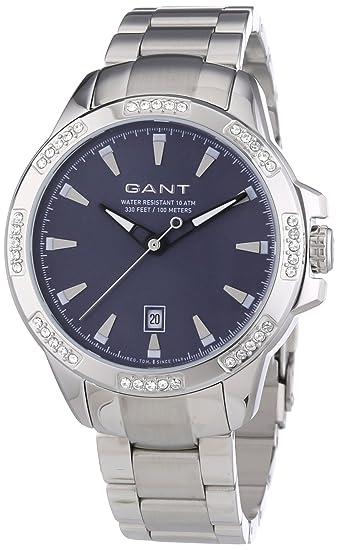 GANT Madison - Reloj de cuarzo para mujer, con correa de acero inoxidable, color plateado: Amazon.es: Relojes