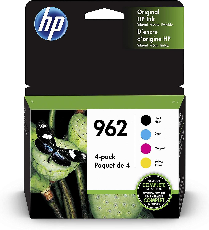HP 962 | 4 Ink Cartridges | Works with HP OfficeJet Pro 9000 Series, HP OfficeJet Pro Premier 9012 | Black, Cyan, Magenta, Yellow | 3HZ99AN, 3HZ96AN, 3HZ97AN, 3HZ98AN