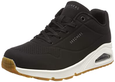 44417ab2ca57 Skechers Womens Uno - Stand on Air Black 7.5 B - Medium