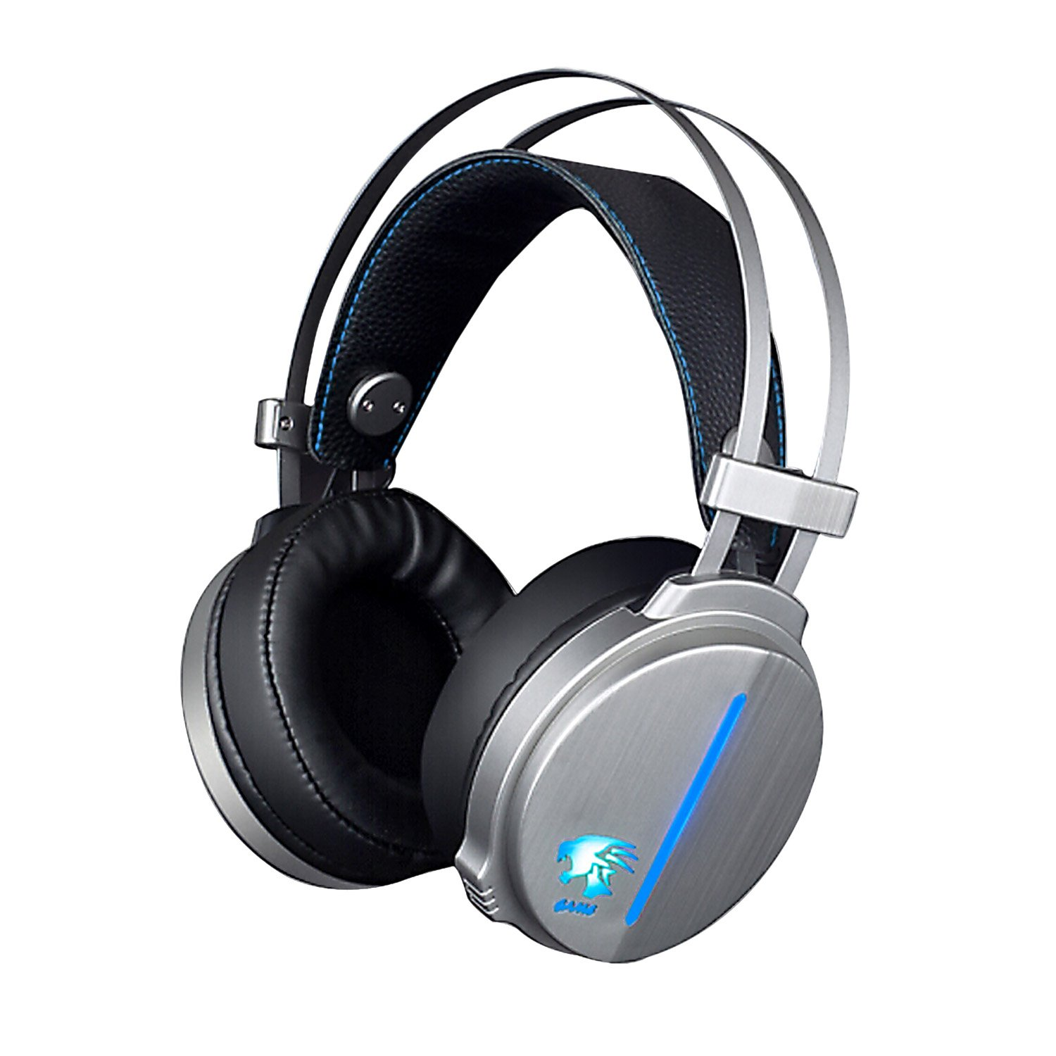 X-09 Stereo Gaming Headset 3.5mm Plug With Mic Computer Headphone Soft PU Leather Ear-cushion with Mic and LED Light for Laptop Computer/Cellphone by ANGLEE