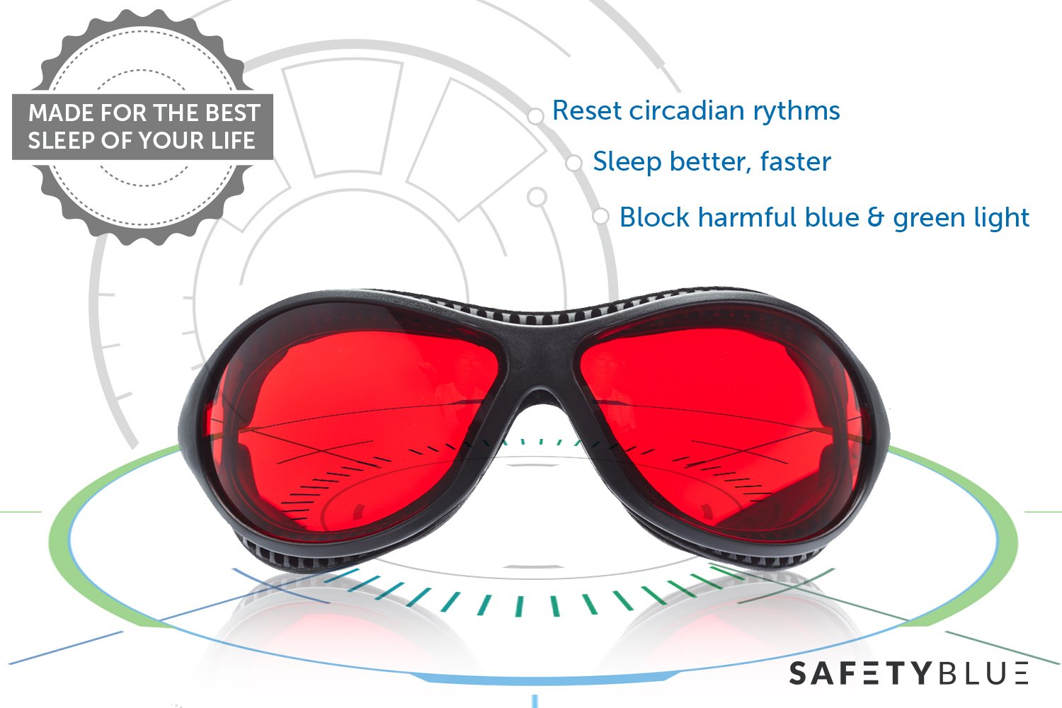 Sleep Savior ™ Ultra - Red Night Glasses – Blocks Out More Disruptive Light Than Blue Blockers - for Men and Women - Increase Melatonin Naturally and Help You Sleep Better – Perfect for Jet Lag
