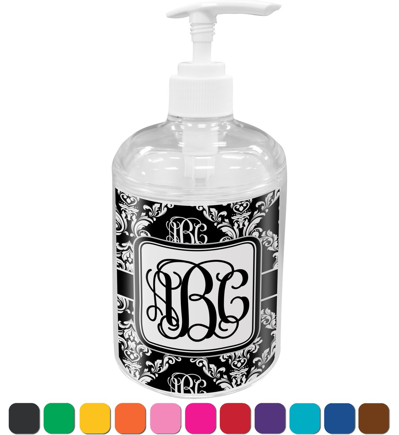 Black And White Damask Bathroom Accessories - Amazoncom monogrammed damask bathroom accessories set