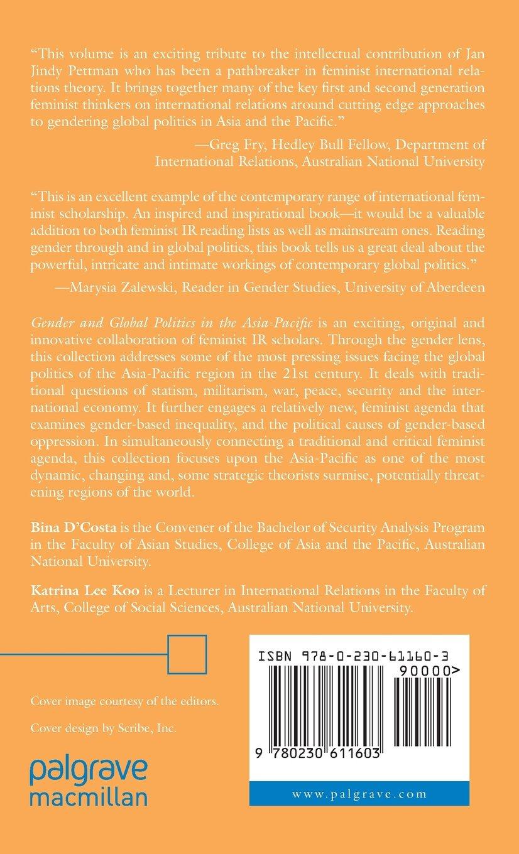 Gender and Global Politics in the Asia-Pacific: Amazon.co.uk: Katrina  Lee-Koo, Bina D'Costa: 9780230611603: Books