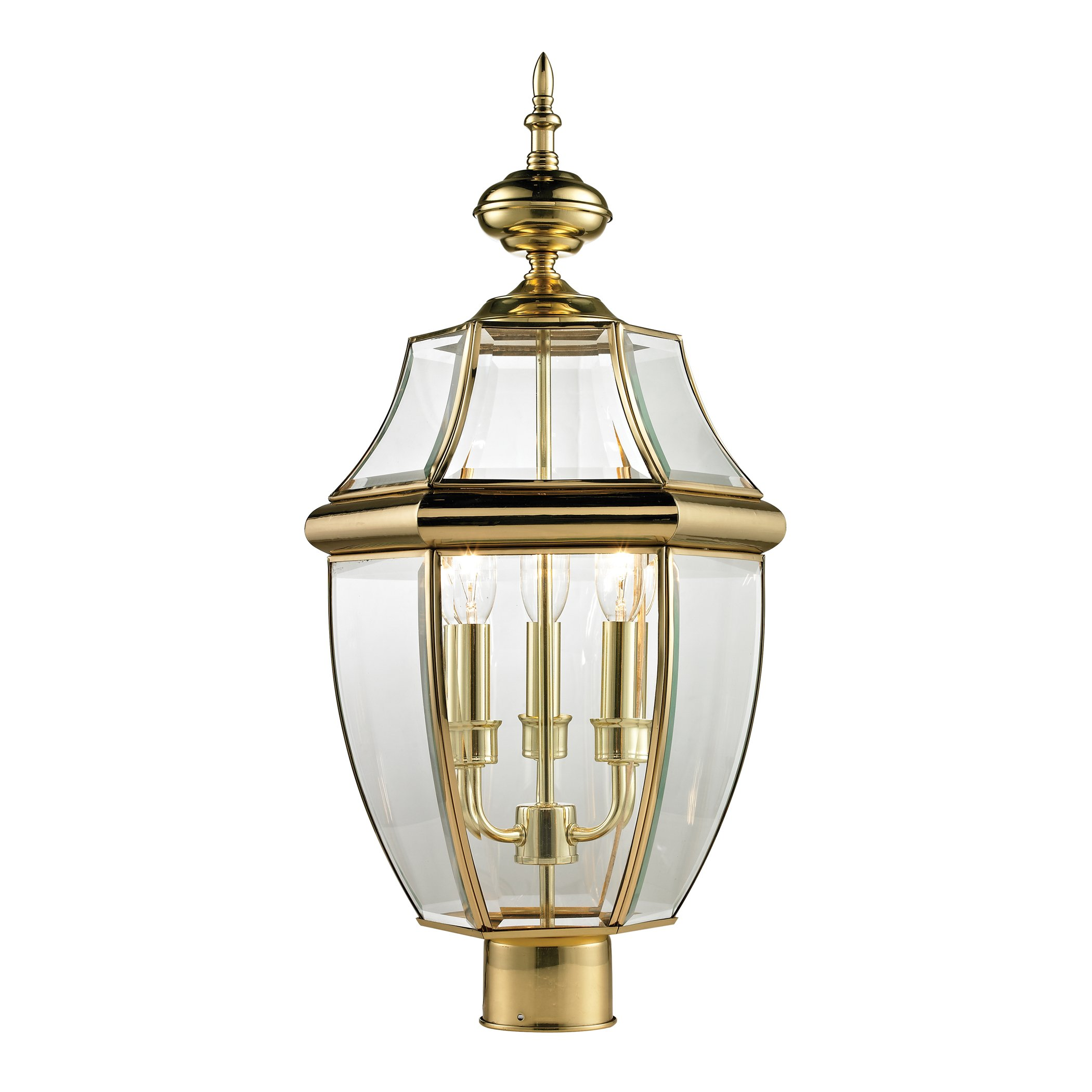 Thomas Lighting Ashford  Post Lantern, Large, Antique Brass Finish