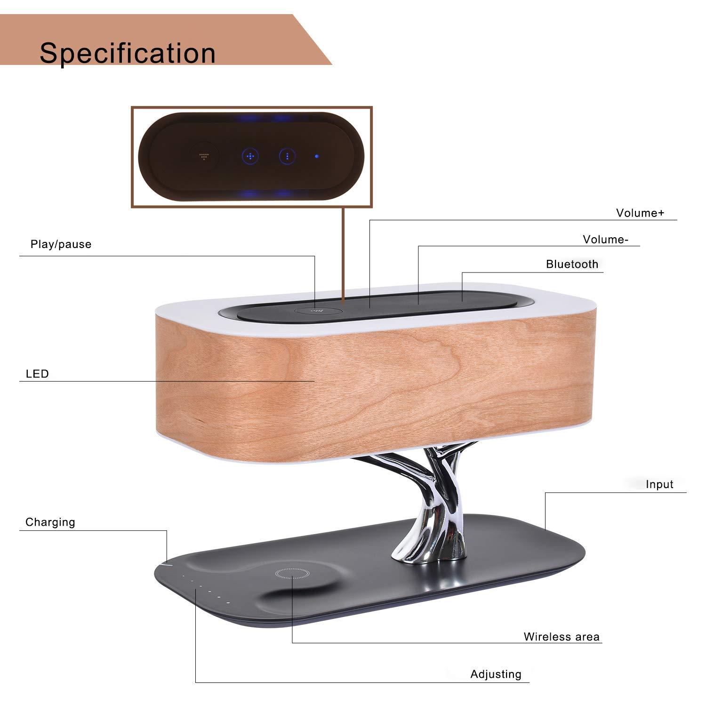 Amazon.com: BAYDEL - Lámpara de noche con altavoz Bluetooth ...