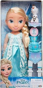 Amazon.com: Disney Muñeca de princesa Elsa y Olaf juego de ...