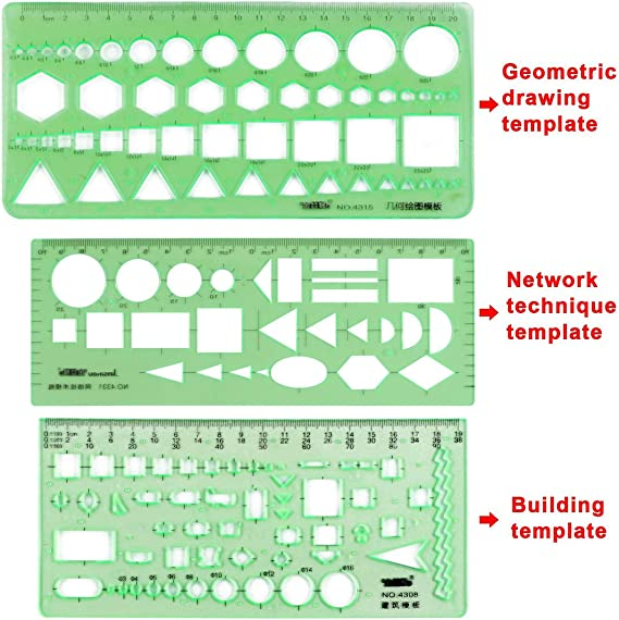 Amazon Com 11pcs Drawing Template Ruler Stencils Tool Include