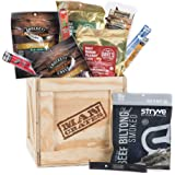 Exotic Meats Crate – Includes 10 Rare Jerky Flavors Like Venison, Wild Boar, Elk and More – Ships In A Sealed Wooden Crate Wi