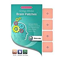 Ginkgo Biloba Brain Patches - Unique Supplement Combines 100% Natural Ingredients...