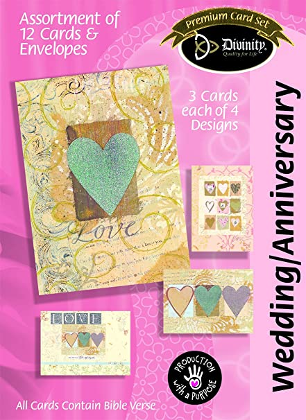 Amazon divinity boutique greeting card assortment anniversary divinity boutique greeting card assortment anniversarywedding paper hearts 22384n m4hsunfo