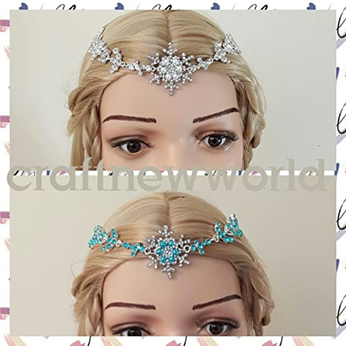 Snowflake headpiece. Forehead headpiece. Winter wedding headpiece ... 6efc16d0eee