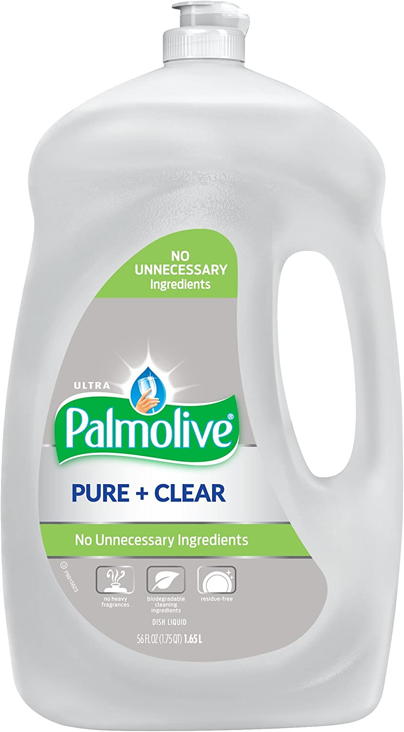 Palmolive Ultra Liquid Dish Soap, Pure and Clear - 56 Fluid Ounce